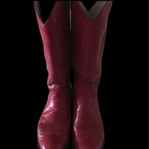 Larry Mahans  Vintage Ladies. Red Western Boots